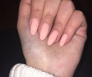 nails, Nude, and peach image