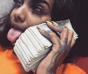 aesthetic, black, and dollars image