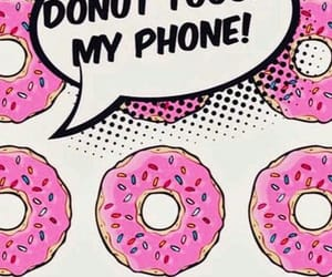 donut, wallpaper, and pink image