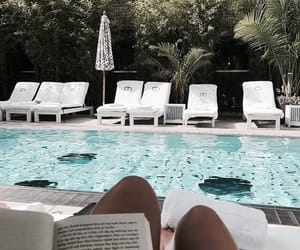 summer, book, and relax image