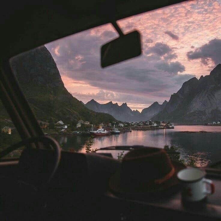 sky, travel, and car image