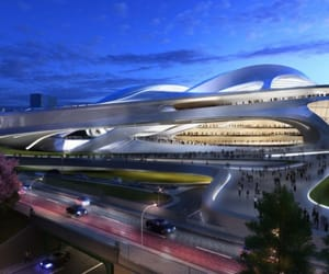 architects, 2020 olympics stadium, and zaha hadid image