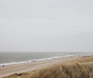 beach, cold, and ocean image