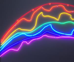 colourful, rainbow, and lights image