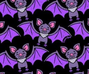 bats, Halloween, and wallpaper image