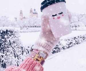 winter, coffee, and fashion image
