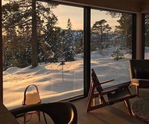 snow, winter, and interior image