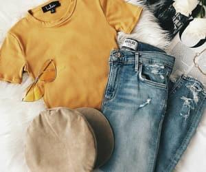 fashion, tumblr, and yellow image