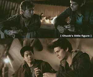 chuck, dylan obrien, and newt image