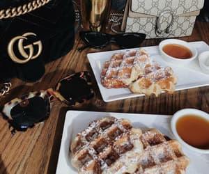 food, gucci, and waffles image