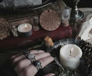 candle, divination, and dog image