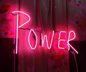 aesthetic, pink, and power image