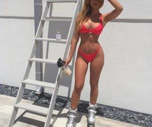 bikini, goals, and roller skating image