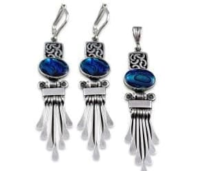 sterling silver earrings, sterling silver rings, and silver jewellery online image