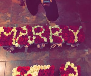 boyfriend, flowers, and ring image