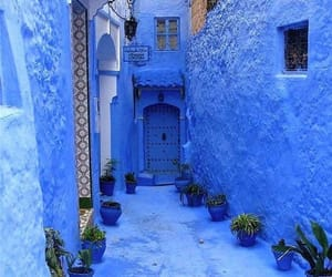 blue, morocco, and house image
