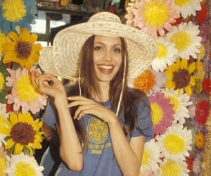 Angelina Jolie, flowers, and young image