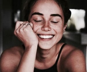 girl, smile, and natural look image