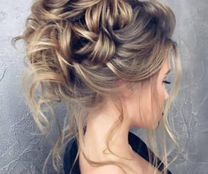 blond, hair, and hairstyle image