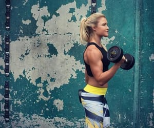 fitness, workout, and dumbbell image