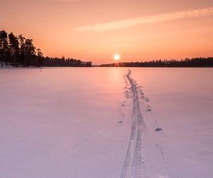 adventure, light, and ski image