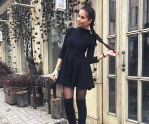 black, outfit, and cool image
