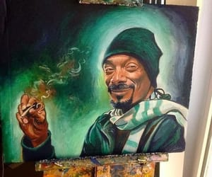 art, painting, and snoop dog image