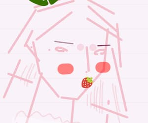 drawing, illustration, and strawbery image