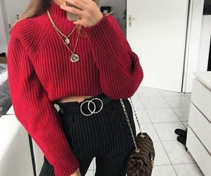 accessory, style, and sweater image