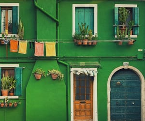 green, house, and green house image