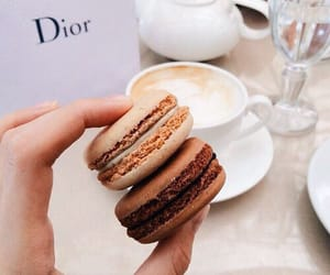 coffee, yummy, and ‎macarons image