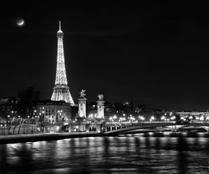 paris, black, and black and white image