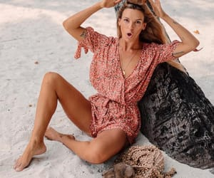 beach, summer, and olive cooke image