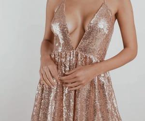 dress, vogue, and rose gold image
