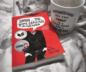 books, mug, and reading image