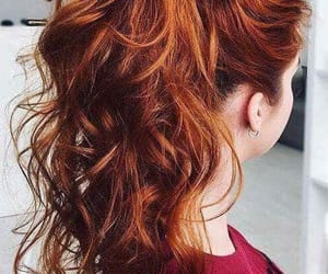 hair, ginger, and hairstyle image