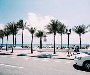 beach, california, and travel image
