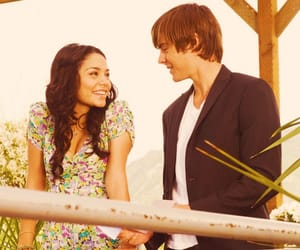 high school musical, couple, and movie image