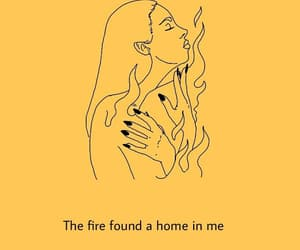 fire, in me, and found home image