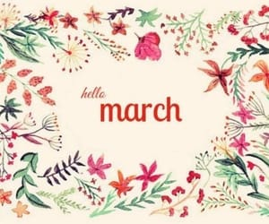 flowers, leaves, and march image
