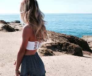 beach, gilr, and goals image
