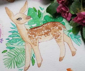 animals, watercolor, and art image