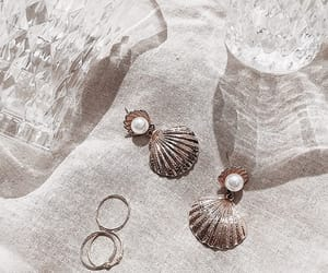 earrings, pearls, and shell image
