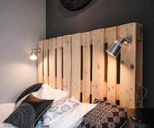 bedroom, Chambre, and pallet image