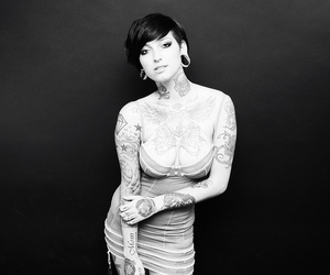 tattoo, gauges, and girl image