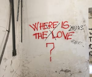 ?, where, and love image