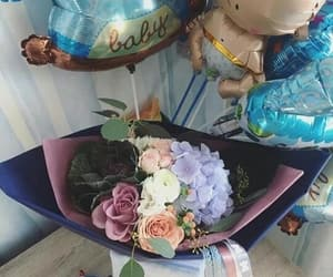 baby, balloons, and blue image