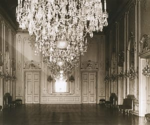 beautiful, chandelier, and vintage image