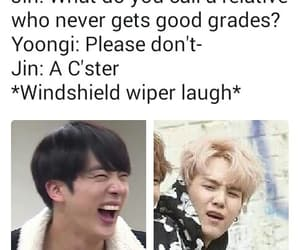 funny, jin, and bts image