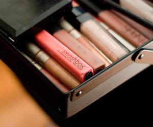 makeup, smashbox, and lipstick image
